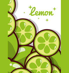 lemon fruit juicy sweet poster vector image