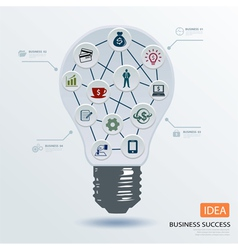 Light bulb business concept vector image