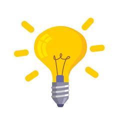 Lightbulb icon isolated on white vector