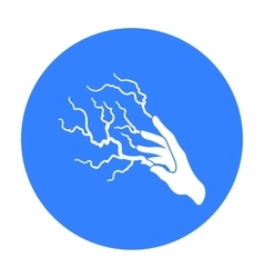 Lightning spell icon in black style isolated on vector