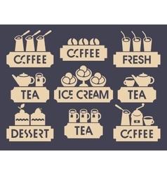 logo for restaurant or cafe shop vector image