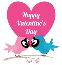 Love birds invitation card for wedding or valentin vector