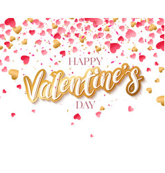 love valentine day background with red hearts vector image
