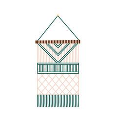 Macrame handmade decoration vector