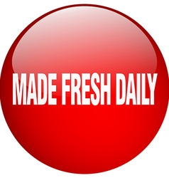 made fresh daily red round gel isolated push vector image