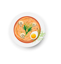 minestrone italian vegetable and mushroom soup vector image