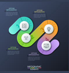 Modern infographic design template in shape of vector