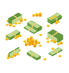 money cash heap vector image