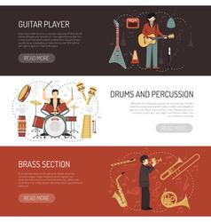 Musicians Horizontal Banners vector
