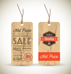 Old retro vintage grunge tags vector