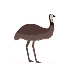 ostrich or emu icon cartoon endangered wild animal vector image