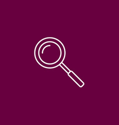 outline search icon on crimsonpurplepink vector image