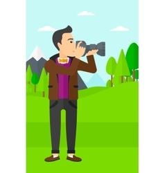 Photographer taking photo vector image