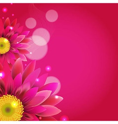 Pink Background With Gerbers vector