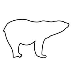 polar bear icon black color flat style simple vector image