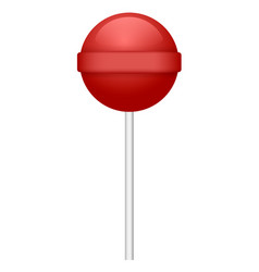 red lollipop icon realistic style vector image