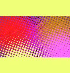 red yellow pink halftone retro background vector image
