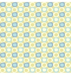 Seamles pattern with yellow and blue ovals vector