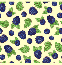 seamless pattern of stroberry vector image