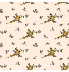 Seampless pattern yellow flower floral vector
