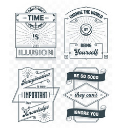 set vintage template quotes 02 vector image