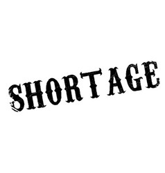 Shortage rubber stamp vector
