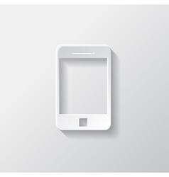 Smartphone icon tablet symbol vector