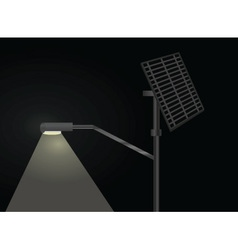 street light with solar panel vector image