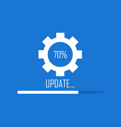 System software update and upgrade concept vector
