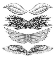tattoo art design different gothic wing vector image