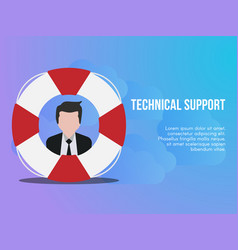 technical support concept design template vector image