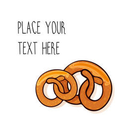 Template with two pretzels vector
