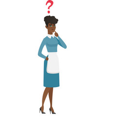 Thinking cleaner with question mark vector
