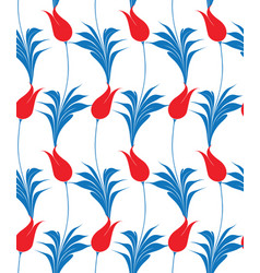 Turkish tulip seamles pattern vector