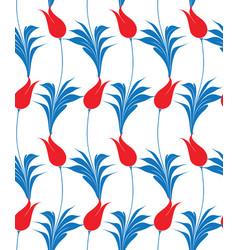 Turkish tulip seamless pattern vector