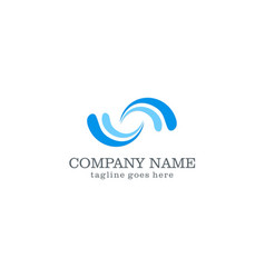 Water wave company logo vector