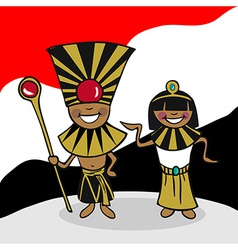 Welcome to Egypt people vector
