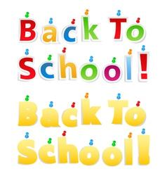 Back To School Paper Words vector image vector image