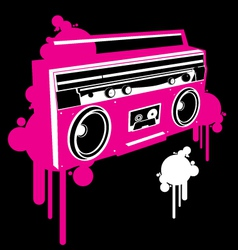 ghetto blaster pop graf version vector image vector image