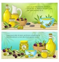 Olive Colored Banner Set vector image