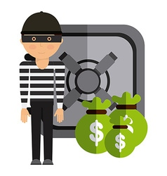 stealing money vector image