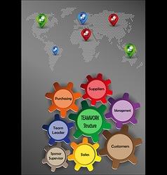 Teamwork graphics vector image