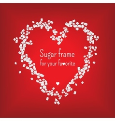 Valentine heart frame with sweet sugar vector image vector image