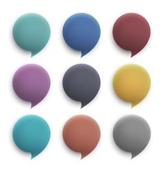 3d round speech bubbles vector image