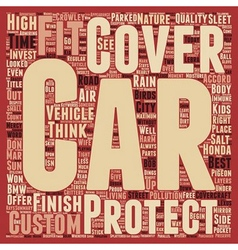 Custom car covers for that perfect fit text vector
