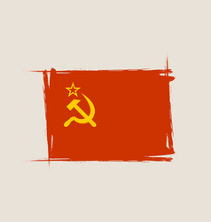 soviet grunge flag with little scratches vector image