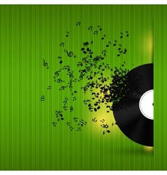 Abstract music background for your design vector image vector image