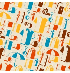 Seamless pattern with promotional gifts and vector image vector image