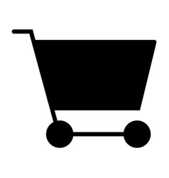 shopping cart silhouette icon 48x48 pictogram vector image