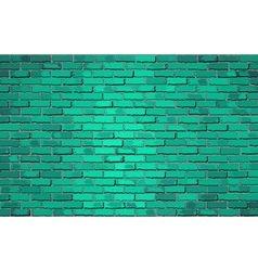 Turquoise brick wal vector image